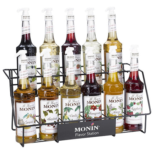Rack Display 11-Bottle for 750ml/1Lt Syrups