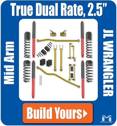 "JL Wrangler 2.5"" True Dual Rate Suspension"