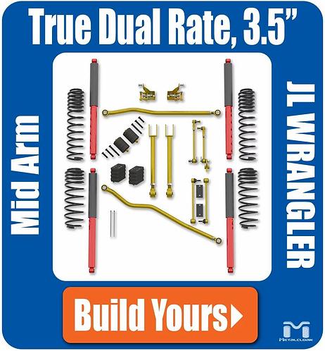 "JL Wrangler 3.5"" True Dual Rate Suspension"
