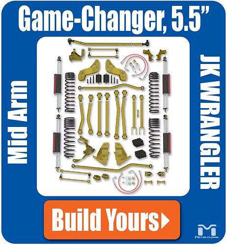 "JK Wrangler 5.5"" Game-Changer Suspension - Bolt-On"