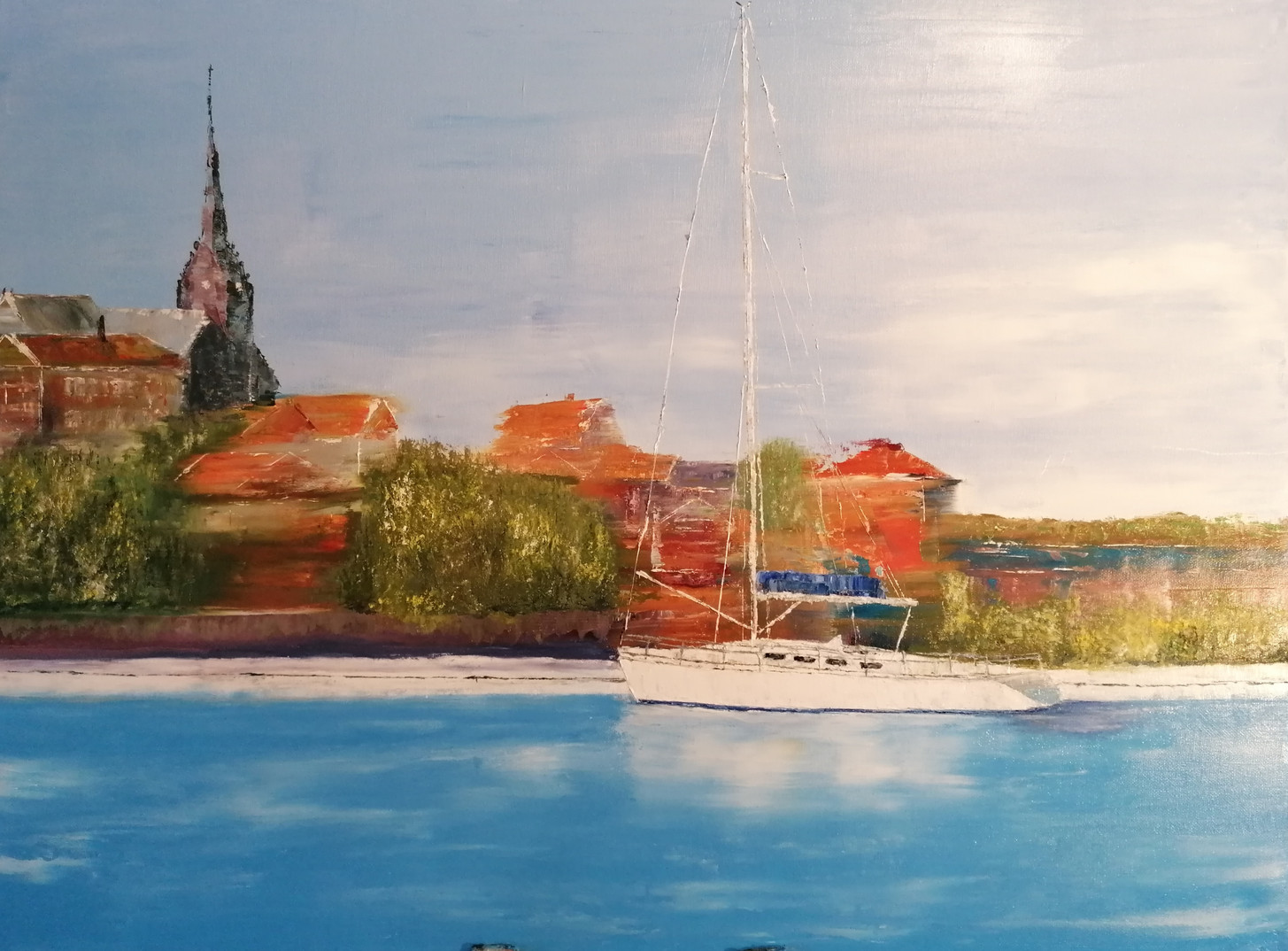 'Moored boat, Sweden'