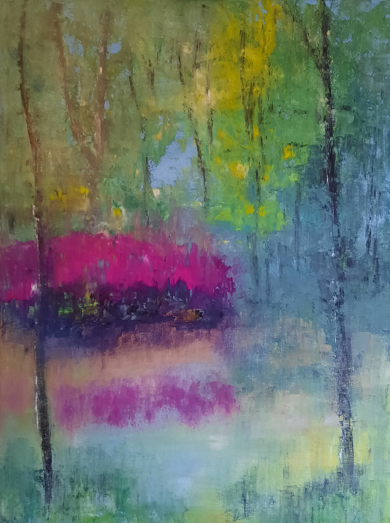 'Rhododendrons Over Water'