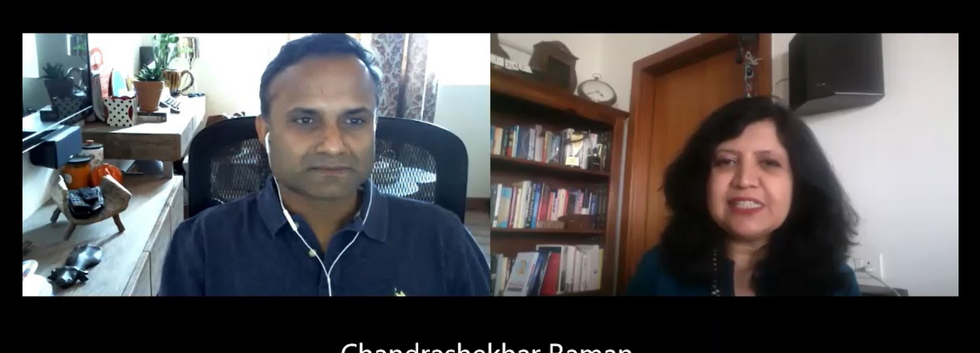 Interview with Chandrashekhar Raman