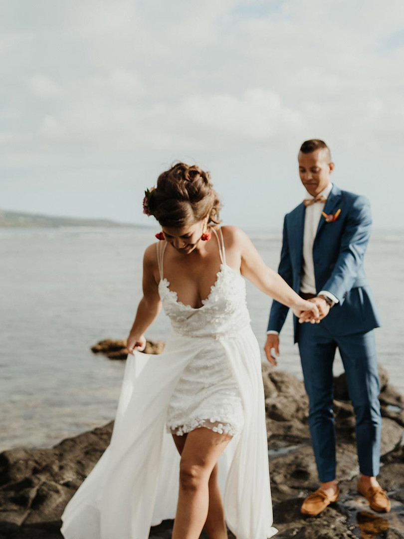 robe de mariee courte de devant