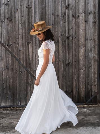 robe de mariée rétro bohème