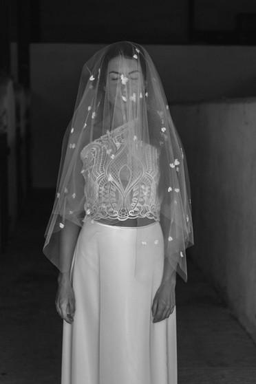 bustier de mariée en guipure