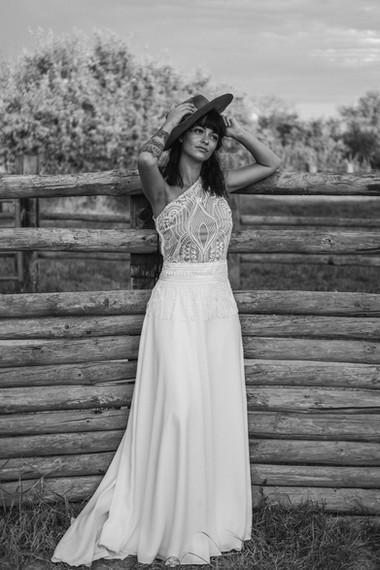 jupe de mariée en crêpe