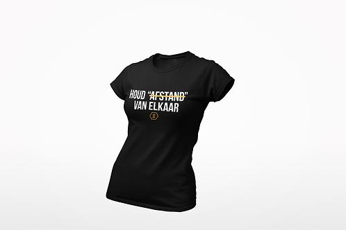 T-shirt - HOUD AFSTAND - Dames