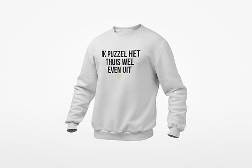 Sweatshirt - IK PUZZEL THUIS - Unisex