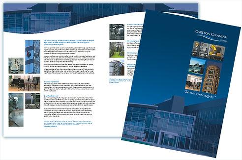 Folder company literature design & printing
