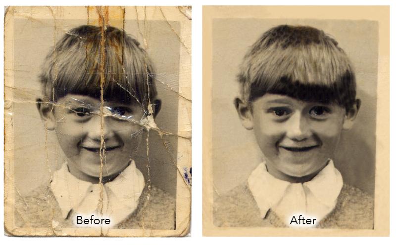 repair ripped photograph