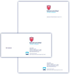 School branding stationery design