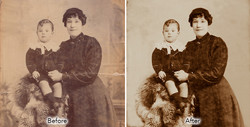 faded victorian photograph repaired