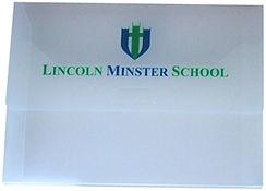 School plastic wallet design