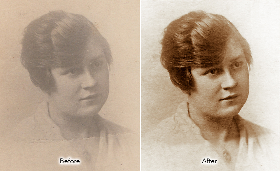 bring contrast to old photograph