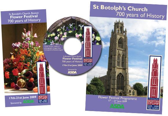 church flower festival event leaflet design