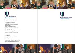School information cover design