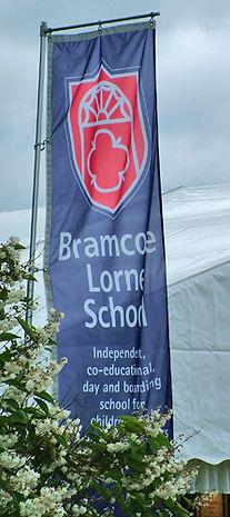 School signage flag design