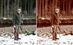 colour photograph to sepia