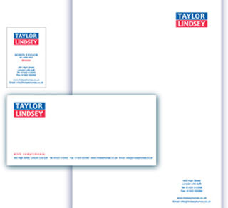 logo design & corporate stationery for Taylor Lindsey