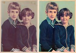 faded 1970's colour photographs