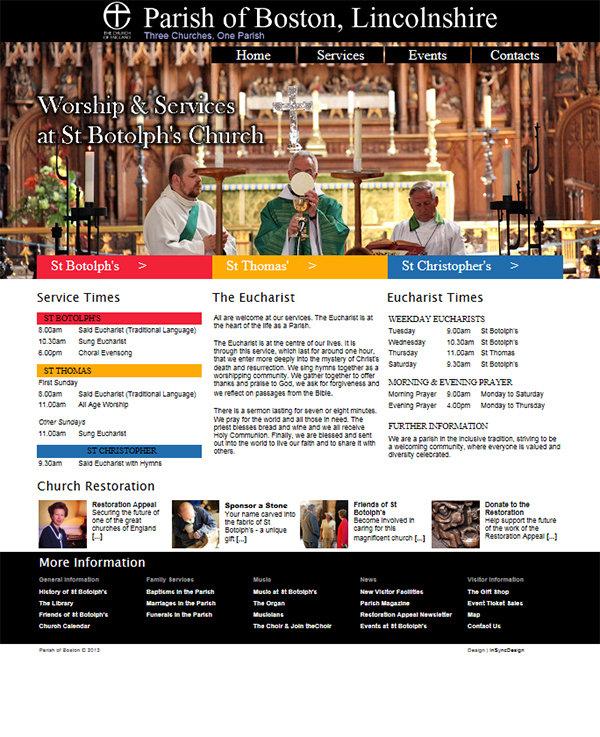church website design and maintenance