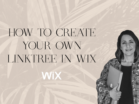 WIX TUTORIAL: How to create your own LinkTree in Wix