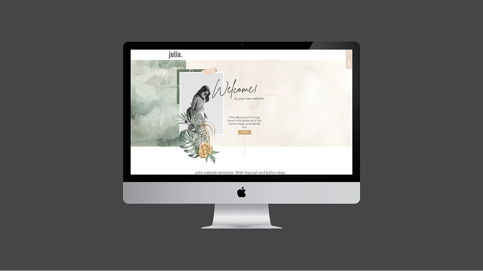 JULIA WIX WEBSITE TEMPLATE