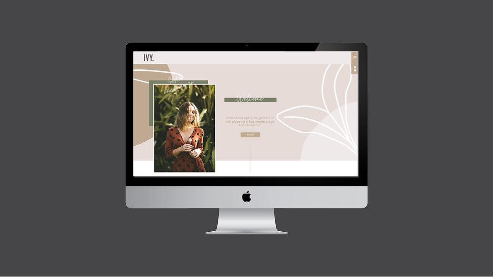 IVY WIX WEBSITE TEMPLATE