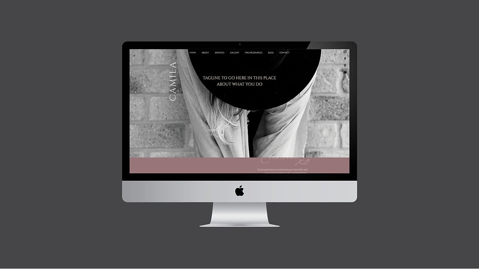 CAMILA WIX WEBSITE TEMPLATE