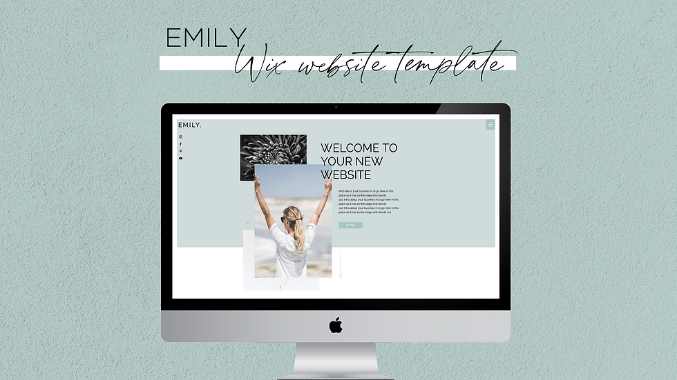 Emily Wix Website Template