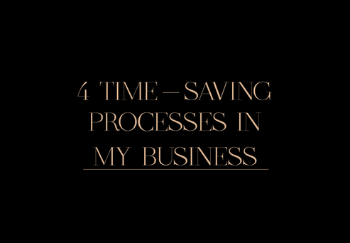 4 TIME-SAVING PROCESSES IN MY BUSINESS