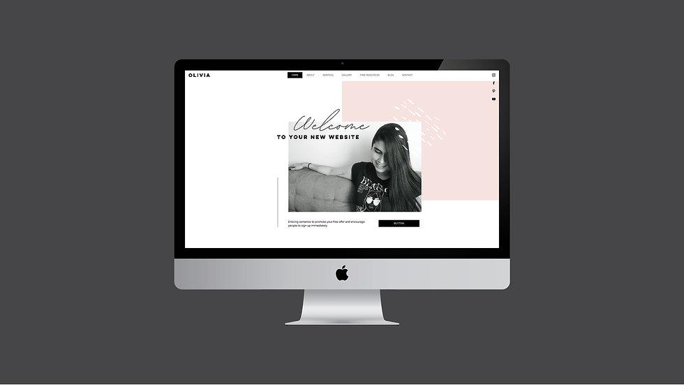 OLIVIA WIX WEBSITE TEMPLATE