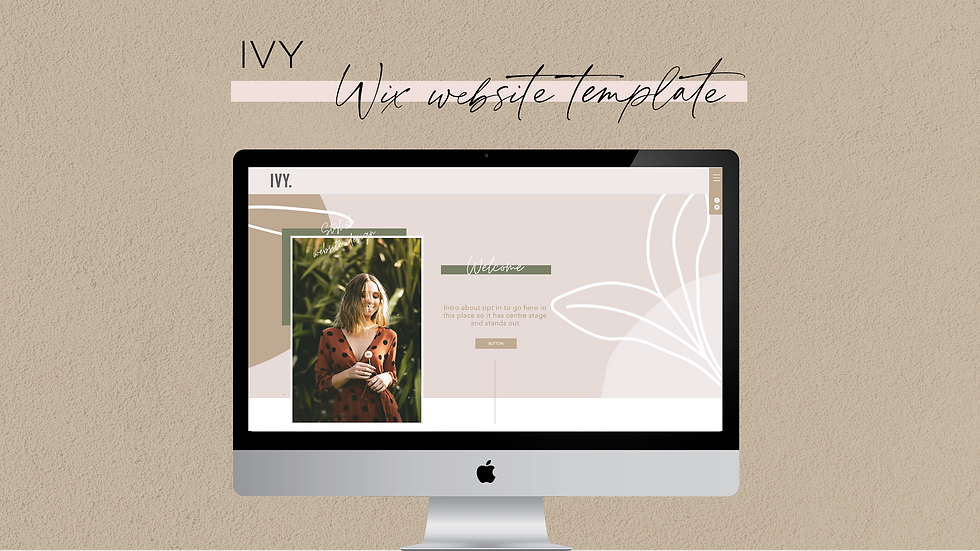 Ivy Wix Website Template