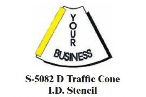Traffic Cone I.D. Stencil