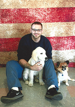 Josh with Spot and Sparky II