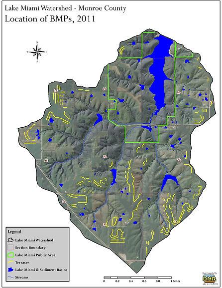 Lake Miami Watershed Map