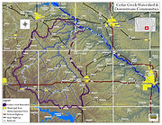 Cedar Creek Map