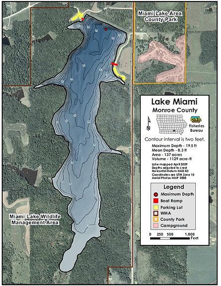 Miami Lake Wildlife Management Area contour map