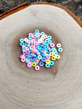 Pastel Mix Polymer Clay Heishi Beads