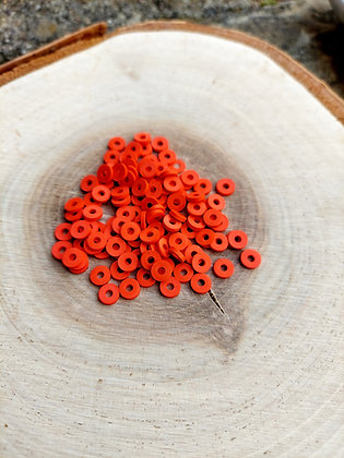 Red Polymer Clay Heishi Beads