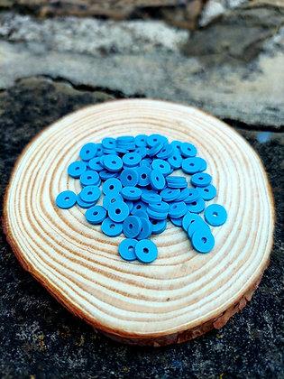 Blue Polymer Clay Heishi Beads
