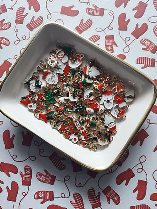 Assorted Gold Plated Christmas Charms