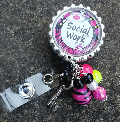 Social Work I.D. Badge Holder