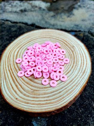 Pink Polymer Clay Heishi Beads