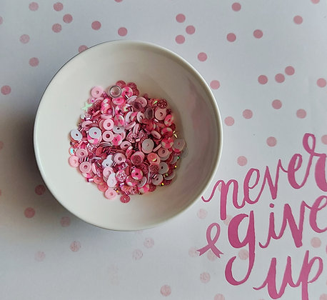 Never Give Up Sequin Mix