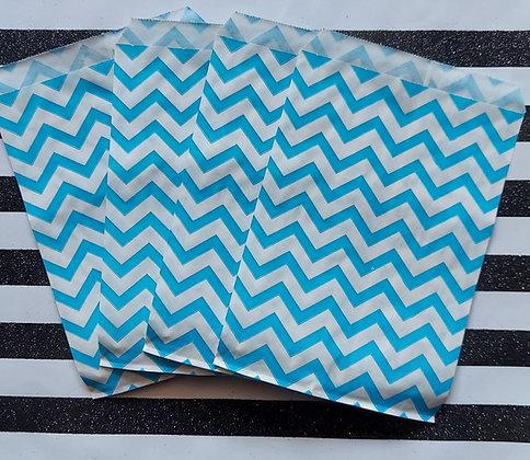 Blue & White Chevron Bags