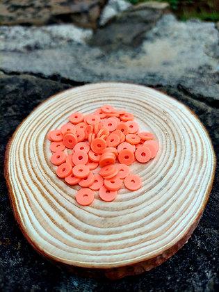 Peach Polymer Clay Heishi Beads