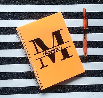 Personalized Notebook (Orange)
