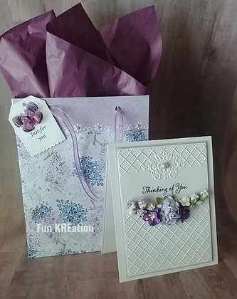 Thinking Of You Card with Matching Gift Bag